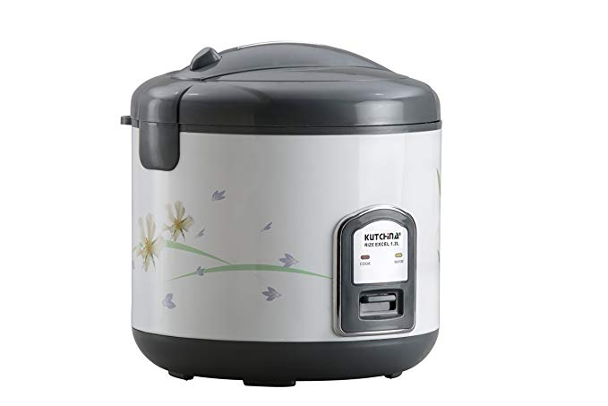 Kutchina Rize Excel Plastic Rice Cooker 1 2 L White And
