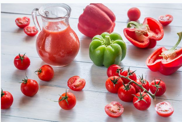 tomato and bell pepper smoothie