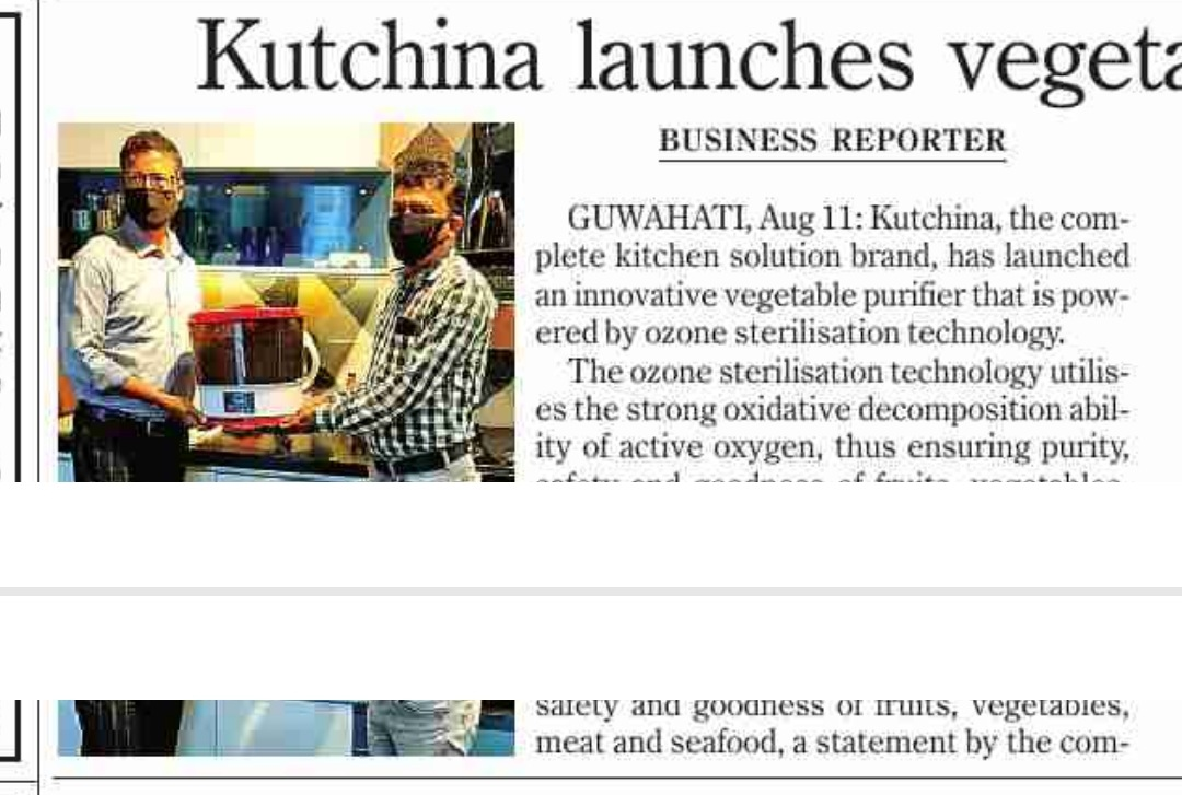Kutchina launches its vegetable purifier